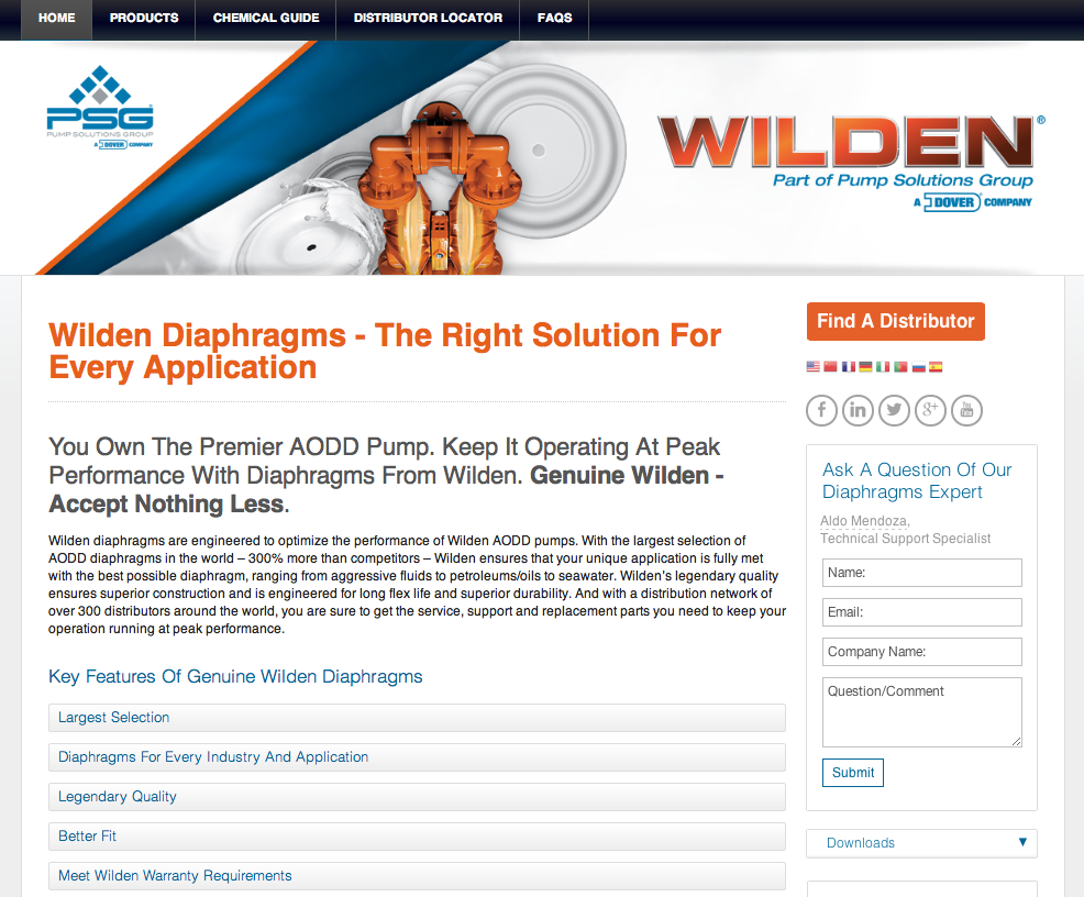 Wilden tools simplify diaphragm selection for AODD pumps