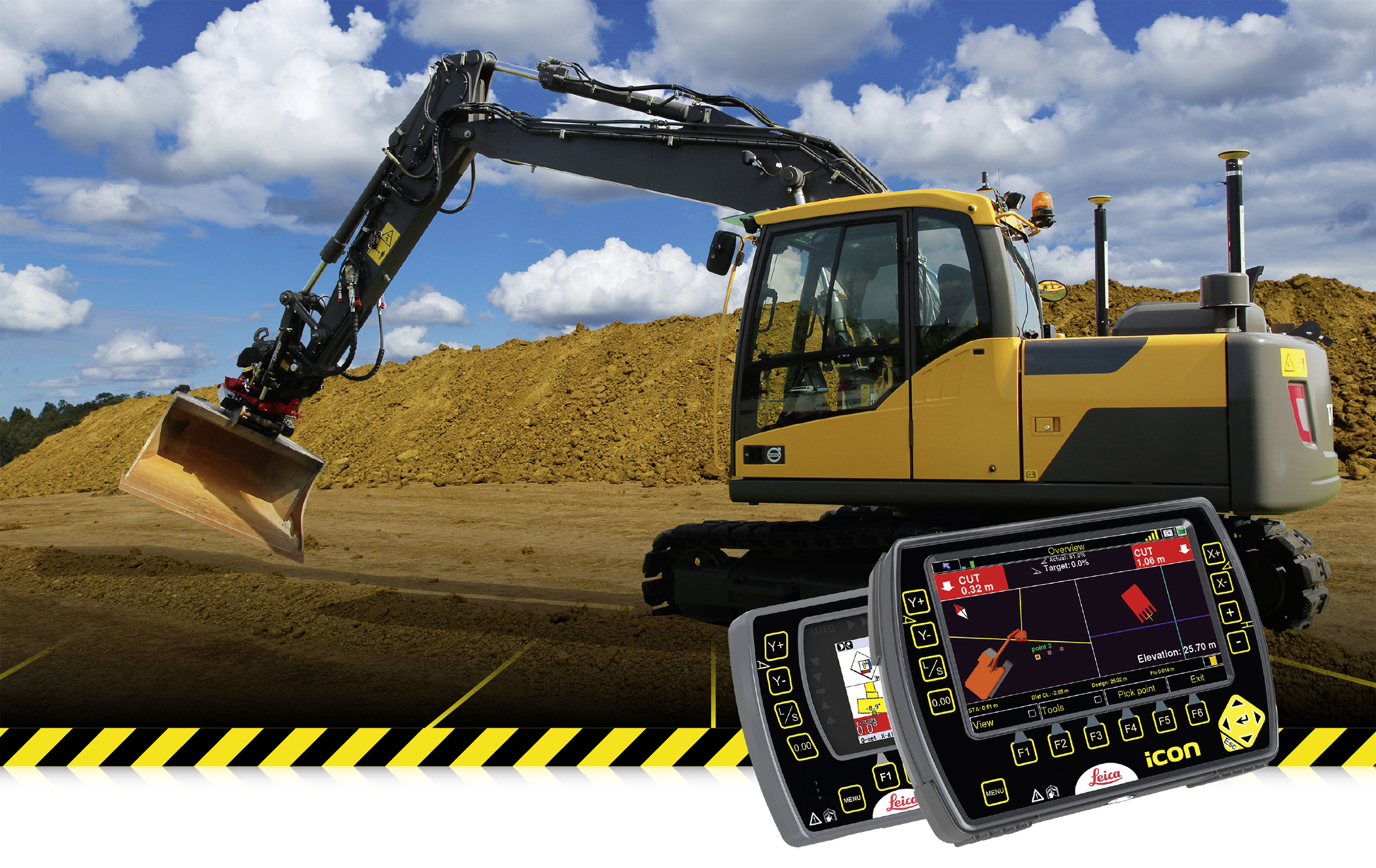 Leica Geosystems 2d And 3d Machine Control For Excavators