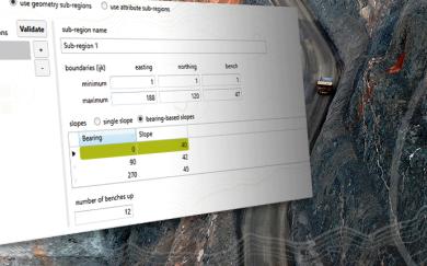 Improving pit optimisation with bearing-based slopes