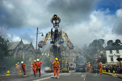 Cornish Mining Man Engine continues journey passing through St Austell