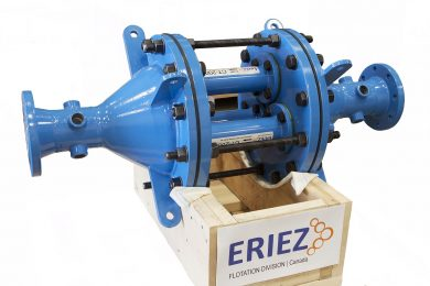 Eriez Flotation Division first installation of FeedAirJet™ for increased metal recovery