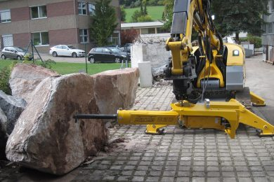 Brokk's new Rock Splitter cited as a safer and quieter option