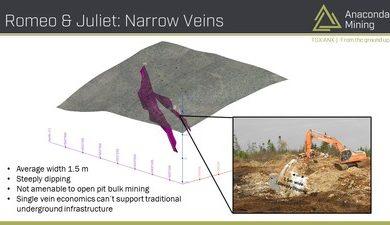 Anaconda Mining partners in innovative narrow vein mining research project