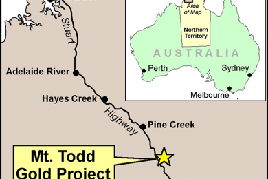 Vista Gold has initial results of automated sorting tests and is updating Mt Todd prefeasibility study