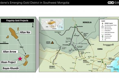Erdene: majority interest and right to purchase 100% of exploration license adjacent to its Bayan Khundii gold project