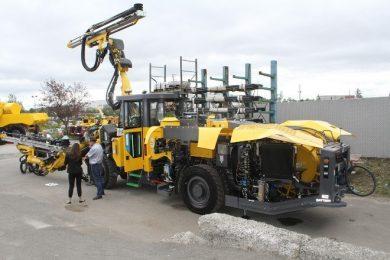 Atlas Copco launches Boomer M2C Battery jumbo at event in Sudbury