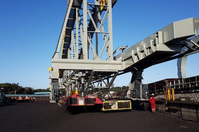 Heavy logistics specialist ALE moves Sandvik bucketwheels at Richards Bay