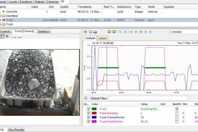 Blast fragmentation measurements in open pits