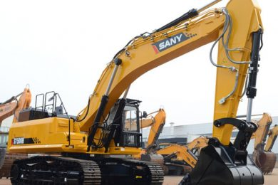 """SANY pushes its large excavators """"for the recovering mining market"""""""