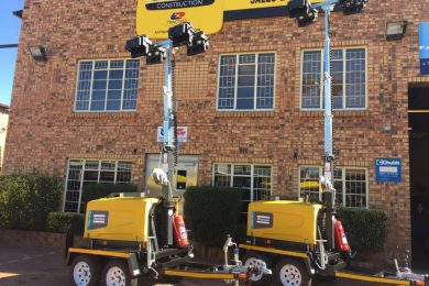 Atlas Copco LED towers lighting up South African coal mine