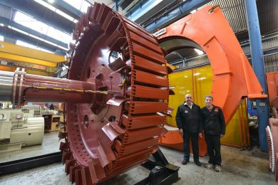 M&C refurb of massive mill motor at Freda Rebecca mine in Zimbabwe
