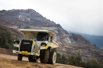 Liebherr T 236 diesel electric truck trials in Erzberg iron ore mine