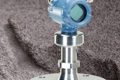 Emerson non-contacting radar meets bulk solids level measurement challenges