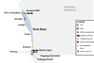 Iluka approves the development of the Cataby mineral sands, Western Australia