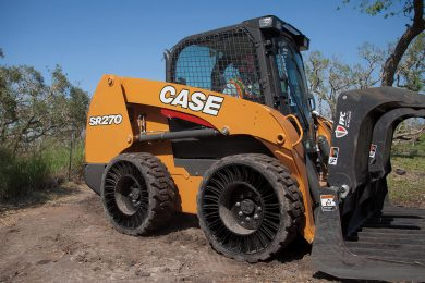 CASE first skid steer loader OEM to offer Michelin X Tweel tyres from factory