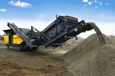 Rubble Master's new large impact mining crushers powered by