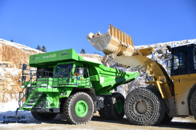 eDumper Li-battery surface mining truck due for handover to customer on April 20