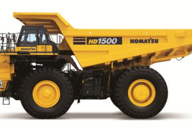 Komatsu launches 142 t class HD1500-8 mechanical drive dump truck