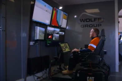Mining contractor Wolff first in Australia to see benefits of Cat Command for dozing