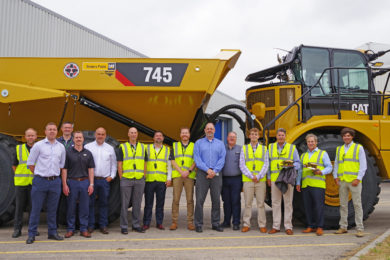 Milestone delivery for Cat articulated trucks