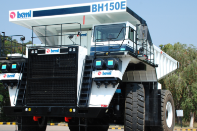 India's BEML launches BH150E 150 t electric drive truck at Gevra coal project