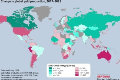 Gold Mines In World Map.Global Gold Output To Hit Record Highs In 2019 2020 International