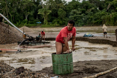 Monitoring the destruction caused by small-scale gold miners in the Peruvian Amazon