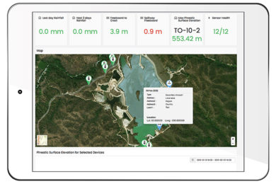 Inmarsat and Knight Piésold join forces for remote tailings dam monitoring