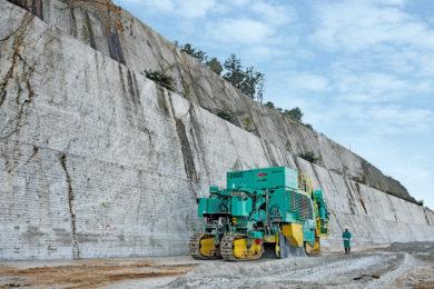 Wirtgen surface miners help major Japanese limestone quarry maximise tonnage