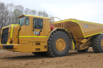 New Cat® AD45 Underground Truck offers greater emissions control