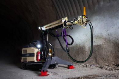 Normet Minimec offers new solution for concrete spraying in confined spaces