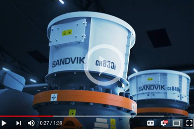 VIDEO: Sandvik 800i Connected Cone Crusher Series