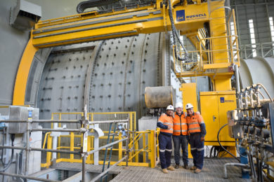 RME's SKYWAY takes relining process outside of the mill at Cobre Panama