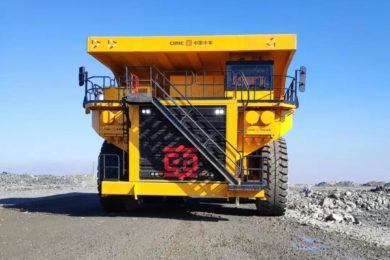 New 240 ton electric drive truck from CRRC starts testing at Ansteel's Qidashan Iron mining operation