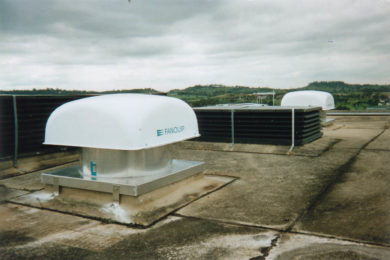 Fanquip hooded roof fans offer a ventilation solution for coal and ore process plants