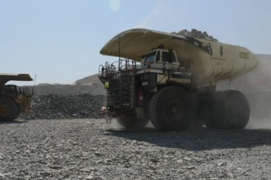 Macmahon adds six new Liebherr T 264 electric drive trucks to the AngloGold Tropicana gold mine fleet