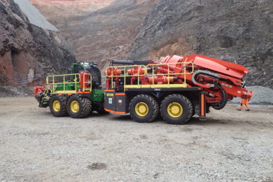 Byrnecut's Rhino 100HM raise borer gets to work at Gold Fields' Invincible mine