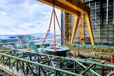 Primero lays foundations for world's largest rail mounted stackers, reclaimer