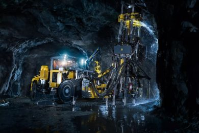 Bergteamet taking on Epiroc's Easer L at LKAB's Sustainable Underground Mining project at Konsuln