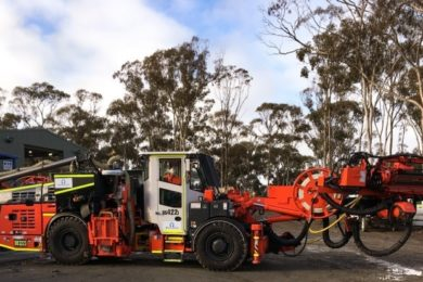 Macmahon & Sandvik partner on industry first cable bolt drill