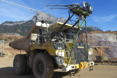 Innovative 5 km trolley line build for fleet of six Liebherr T 236 trucks underway at VA Erzberg mine in Austria