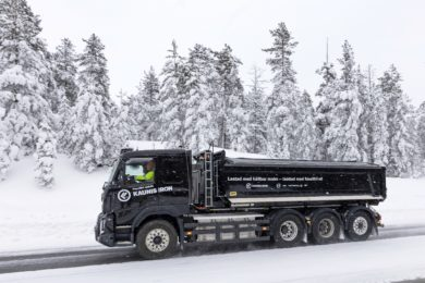 All-electric Volvo heavy truck faces the Arctic climate at Kaunis Iron's Pajala mine