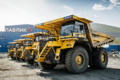 Cat DSS fatigue management system installed on contractor Detra's truck fleet at Pavlik Gold in Russia