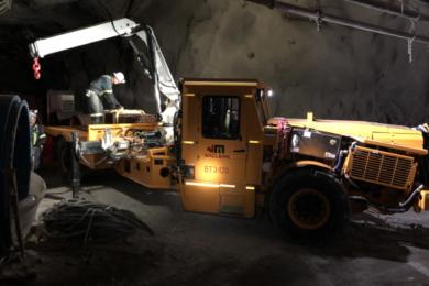 New Afton purchases C-zone battery electric starter fleet including Maclean Boom Truck, Artisan 50 t haul trucks & Sandvik LH518B loader