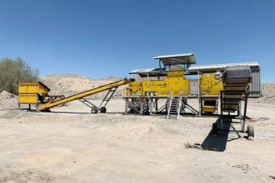 Steinert sets up new beneficiation & preconcentration test plant at Navachab gold mine in Namibia