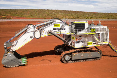 Liebherr details preseries rollout of its new R 9600 excavator at BHP's South Flank & Thiess-operated Curragh North