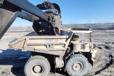 Autonomous NHL trucks start work at China Huaneng's Yiminhe coal mine in Inner Mongolia