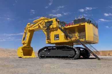 Komatsu's new PC5500-11 hydraulic excavator delivers power with sustainability