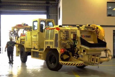 Normet sends new fleet of 25 concrete sprayers and mixers from its Santiago factory to work at Chuqui Underground