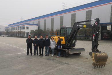 Pilot Volvo EC55 electric excavator delivered to aluminium company Xinyuan